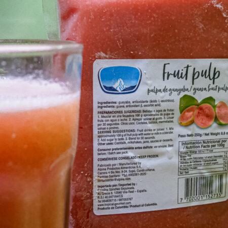 Guava drank/ fruit pulp