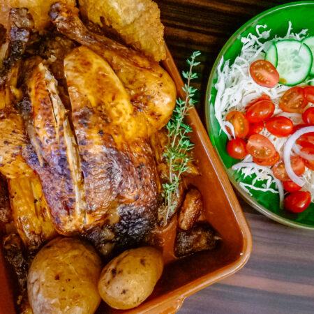 Pollo al relleno del horno